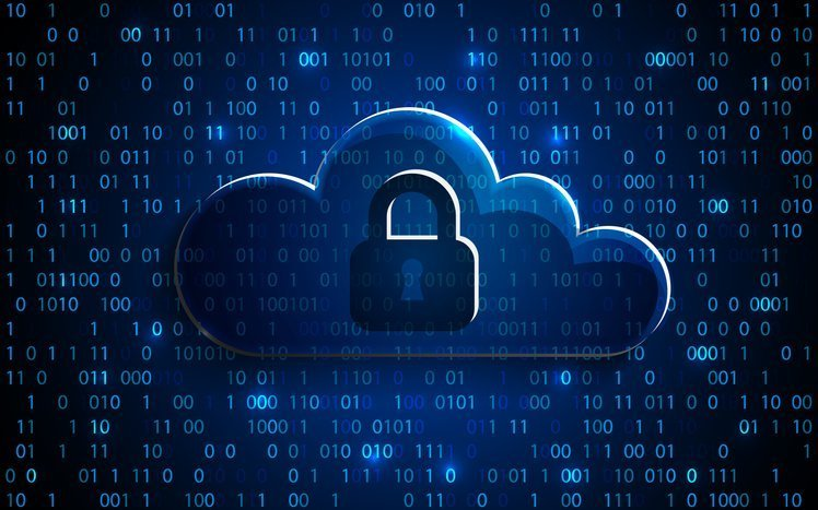 Abstract security cloud technology background, key lock and could technology background, Vector Illustration